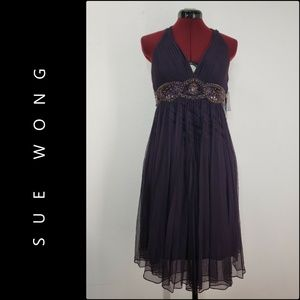 Sue Wong Woman Beaded Evening Party Dress 4 NWT